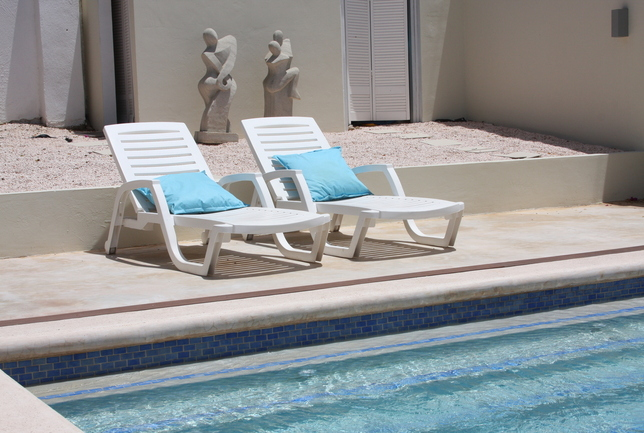 Preview a beach chairs at the pool villa breeze curacao